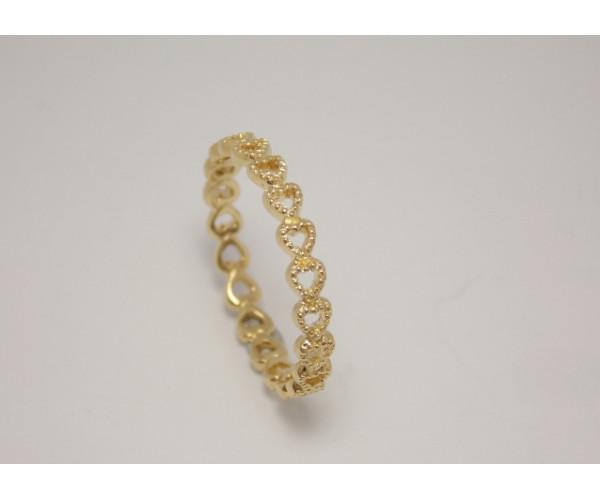 Dámsky prsteň žlté zlato Million hearts