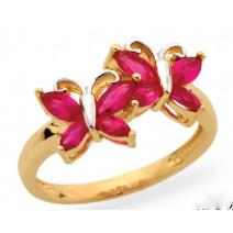 Dámsky prsteň žlté zlato Butterfly JM361