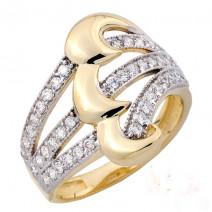 Dámsky prsteň žlté zlato Harper  JM1798