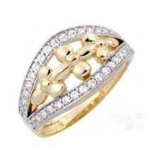 Dámsky prsteň žlté zlato Roxane JM1788