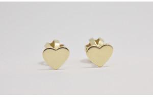 Dievčenské náušnice žlté zlato Srdce