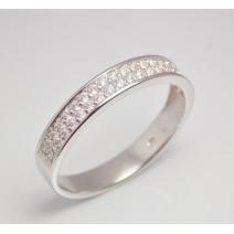 Dámsky prsteň biele zlato Romy JM1530
