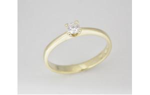 Prsteň s diamantom 0,16 ct  zo žltého zlata Roma