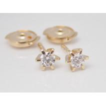 Dámske náušnice s diamantmi 0,28 ct žlté zlato Paloma