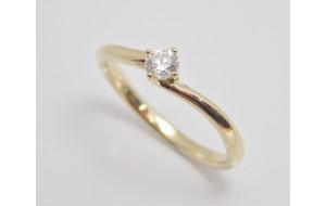 Prsteň s diamantom 0,23 ct  zo žltého zlata Vienna