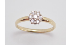 Prsteň s diamantami Little Flower