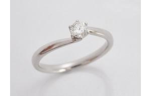 Prsteň s diamantom 0,18 ct z bieleho zlata Softly Elegance
