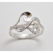Dámsky prsteň biele zlato Diamond Stream