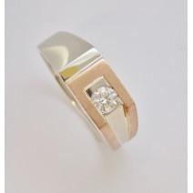 Pánsky prsteň s diamantom GIA 0,30 ct Pride