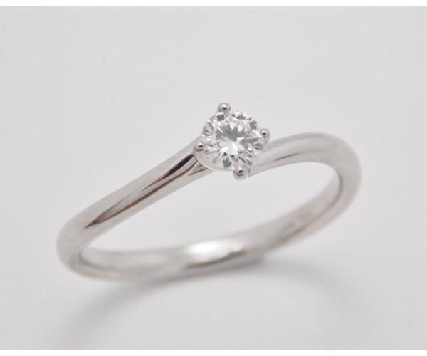 Prsteň s diamantom 0,18 ct  z bieleho zlata Vienna