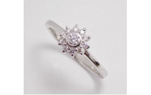 Prsteň s diamantami Fine