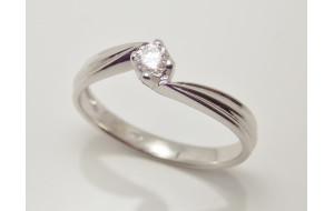 Prsteň s diamantom 0,16 ct z bieleho zlata Gianna