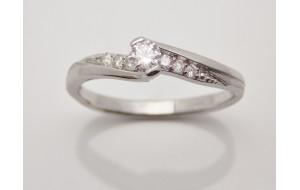 Prsteň s diamantmi z bieleho zlata Paris