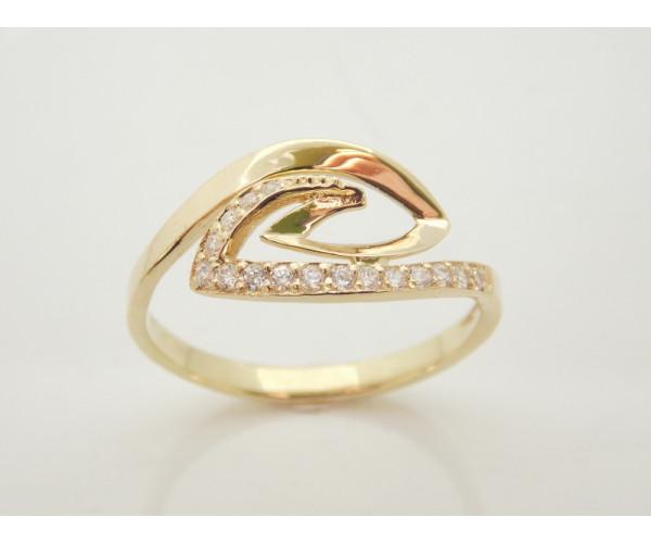 Dámsky prsteň žlté zlato Twist JM1800