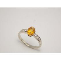 Dámsky prsteň s Citrínom a diamantmi Angelina