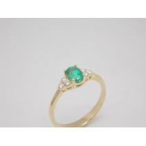 Dámsky prsteň žlté zlato Green dream