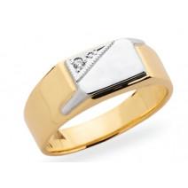 Pánsky prsteň žlté zlato JM16