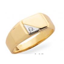 Pánsky prsteň žlté zlato JM17
