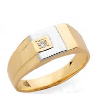 Pánsky prsteň žlté zlato JM10