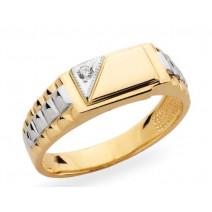Pánsky prsteň žlté zlato JM20