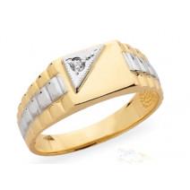 Pánsky prsteň žlté zlato JM03