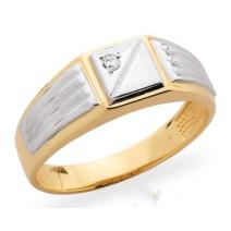 Pánsky prsteň žlté zlato JM35