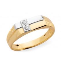 Pánsky prsteň žlté zlato JM30