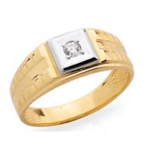 Pánsky prsteň žlté zlato JM32