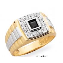 Pánsky prsteň žlté zlato JM42