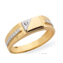 Pánsky prsteň žlté zlato JM38