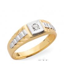 Pánsky prsteň žlté zlato JM27