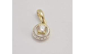 Prívesok žlté zlato Kruh C1997