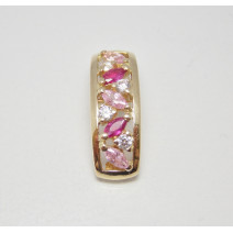 Prívesok žlté zlato Ideal JM349-pink