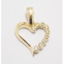Prívesok žlté zlato Heart special