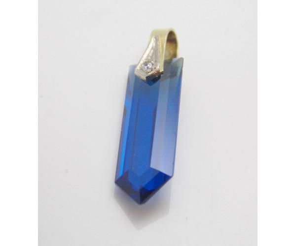 Prívesok so syntetickým kameňom Blue stone
