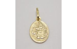 Prívesok žlté zlato Madona Škapuliarska III.
