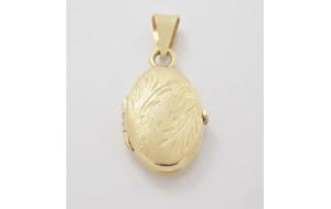 Prívesok-medailón žlté zlato Ovál