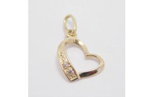 Prívesok žlté zlato Heart small - II.