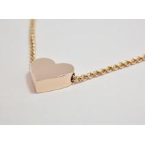 Retiazka s príveskom ružové zlato Srdce