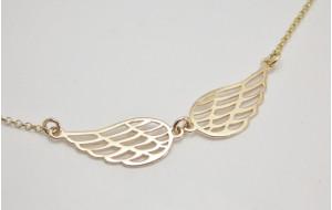 Retiazka s príveskom žlté zlato Anjelské krídla