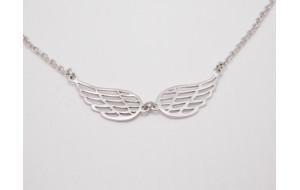 Retiazka s príveskom biele zlato Anjelské krídla