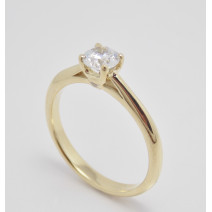 Zásnubný prsteň žlté zlato Siena-bočné kamene
