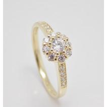 Zásnubný prsteň žlté zlato Tender