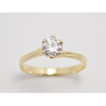 Zásnubný prsteň žlté zlato Veronica