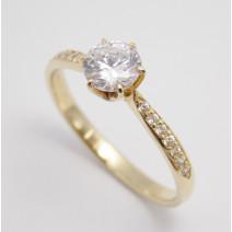 Zásnubný prsteň žlté zlato Valentina