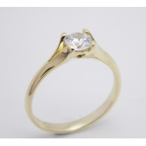 Zásnubný prsteň žlté zlato Secret Hearts