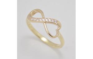 Zásnubný prsteň žlté zlato Wonderful