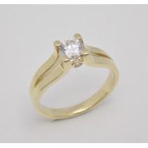 Zásnubný prsteň žlté zlato Princess