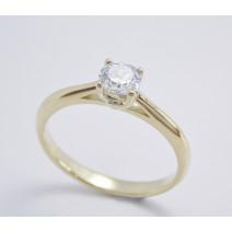 Zásnubný prsteň žlté zlato Siena