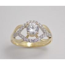 Zásnubný prsteň žlté zlato Sunset